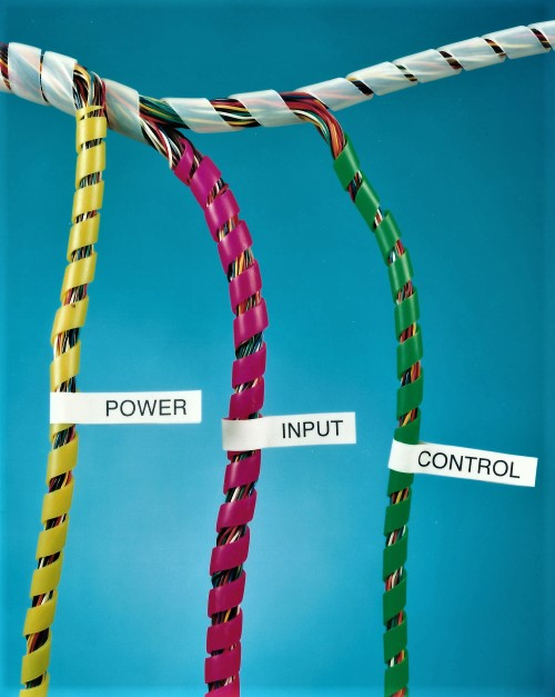 Spiral Cable Wrap Identifiers